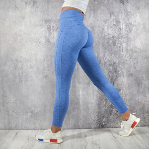 CHRLEISURE Women Workout Leggings Push Up Fitness Leggings Female Fashion Patchwork Leggings Mujer 3Color-geekbuyig