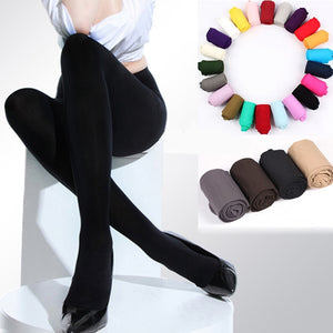 2019 Hot Classic Sexy Women 120D Opaque Footed Tights Pantyhose Thick Tights Stockings Women Fashion Tights-geekbuyig