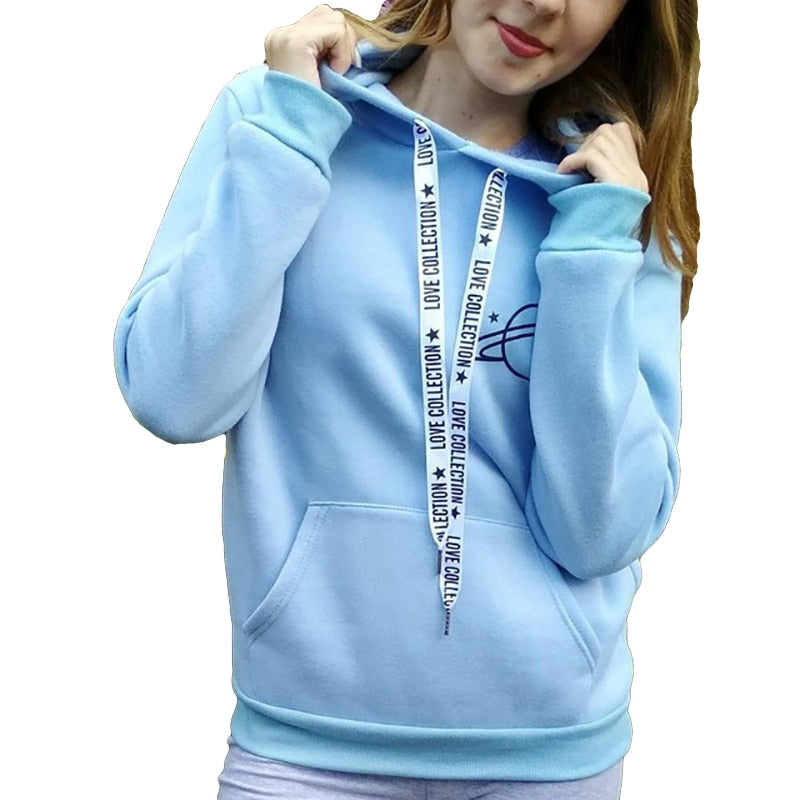 2018 new hoodie women's black large size printed pullover women's even warm sports sweatshirts planet printing dropship-geekbuyig