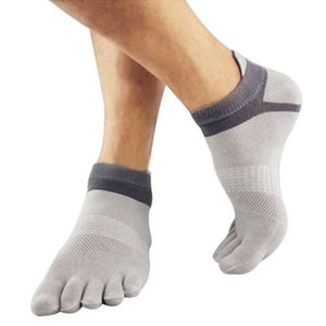 Top sell Men Socks Boys Cotton Finger Breathable Five Toe Socks Pure Sock Newest-geekbuyig
