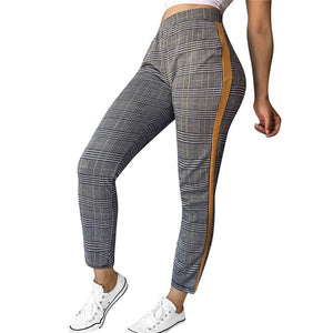 Plaid Pants Women High Waist Sweatpants Casual Trousers For Women Harajuku Pantalones Mujer Cintura Alta Wholesales 40SR7-geekbuyig