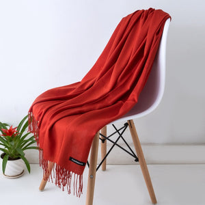 2018 New Luxury Brand Women Cashmere Solid Scarf Ladies Spring /Autumn Wool Pashmina Shawls and Wrap Female Foulard Hijab Stoles-geekbuyig