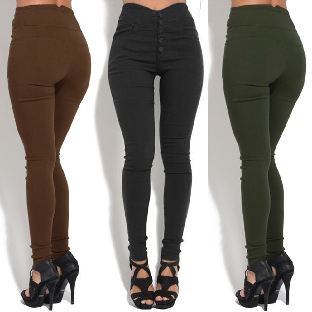 Joggers Sweatpants Women High Waist Pants Skinny Elastic Stretchy Slim 3XL 4XL 5XL Plus Size Trousers female Casual Pencil Pants-geekbuyig
