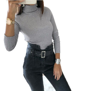 Women Turtleneck Bodysuit Sexy Basic Tops Warm Long Sleeve Slim Fit Jumpsuit Short Overalls Female Solid Color Body Suit Romper-geekbuyig