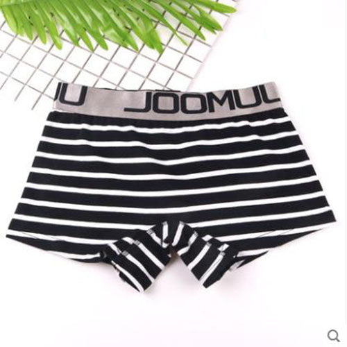 Cotton Panties Striped Women's Boyshort Female Breathable Ladies Safety Underwear Girls Underpant Flat Boxer Shorts students-geekbuyig
