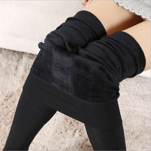 LITTHING High Elastic Waist Winter Thicken Women's Leggings Warm Pants Velvet Seamless Trousers Leggins Super Quality Plus Size-geekbuyig