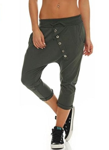Women's Fashion Chino Boyfriend Girlfriend Hipsters Harem Pants Bloomers Baggy Pants Trousers S-5XL-geekbuyig