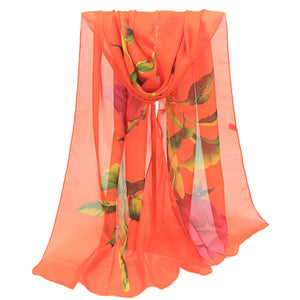 KANCOOLD female 2018 scarves silk shawls and wraps women's scarf Rose Long Soft Wrap Ladies Shawl Chiffon veil S10 SE14-geekbuyig