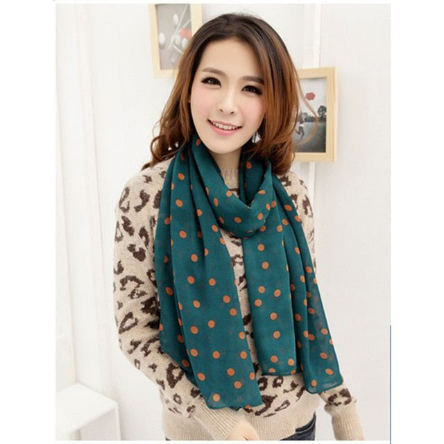 New Fashion Women's Chiffon Printed Scarf Sweet Pattern Cat Kitten Stars Scarf Graffiti Leopard Crown Shawl Girls Scarves Gift-geekbuyig