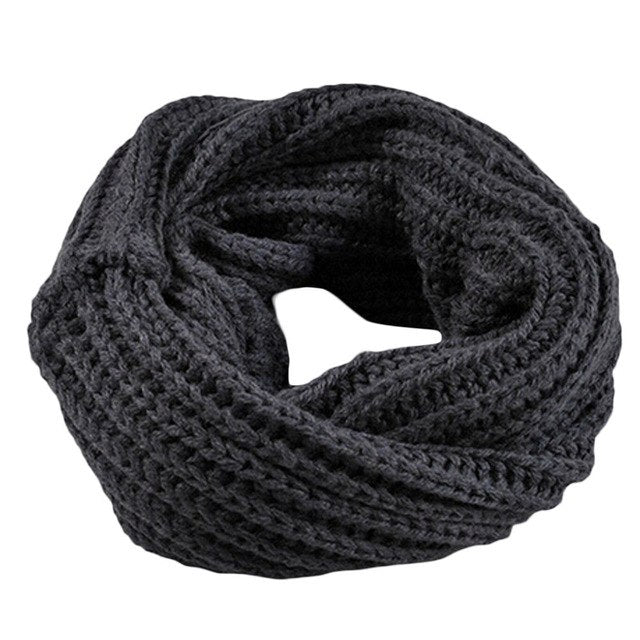 2018 Hot Selling Unisex Winter Neckerchief Women Cotton Warm Soft Scarves Knitted Super Elastic Knit Mufflers O Ring Scarf-geekbuyig
