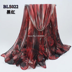 2019 women's spring and autumn leaves cotton shawl scarves shawls sun visor Bohemian voile scarves wholesale drop shipping hijab-geekbuyig