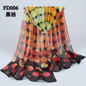 2019 new womens spring fashion scarves women thin long silk shawl Chinese Ink Style print polyester shawl and scarves 006-geekbuyig