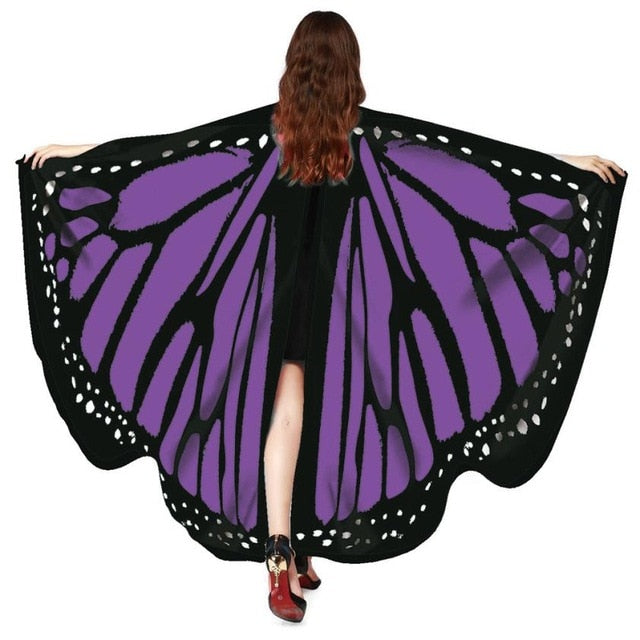 NewWomen Butterfly Wings Shawl Scarves Ladies Nymph Pixie Poncho Costume Accessory summer scarf scarves stoles xales e ponchos-geekbuyig