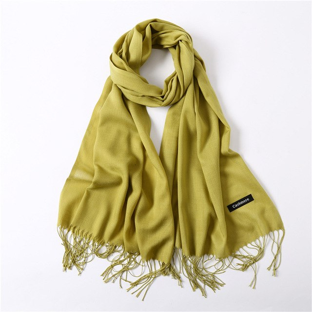 70.9in Winter Cashmere Scarf Women Fashion Scarves Luxury Girls Warm Bandage Tassels Shawls Bufanda echarpe femme hiver 2018-geekbuyig