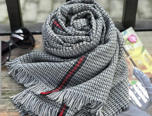 Winter Swallow gird Plaid ribbon scarf wraps Imitation Cashmere pashmina women scarfs thick Dual shawl hijab poncho for ladies-geekbuyig