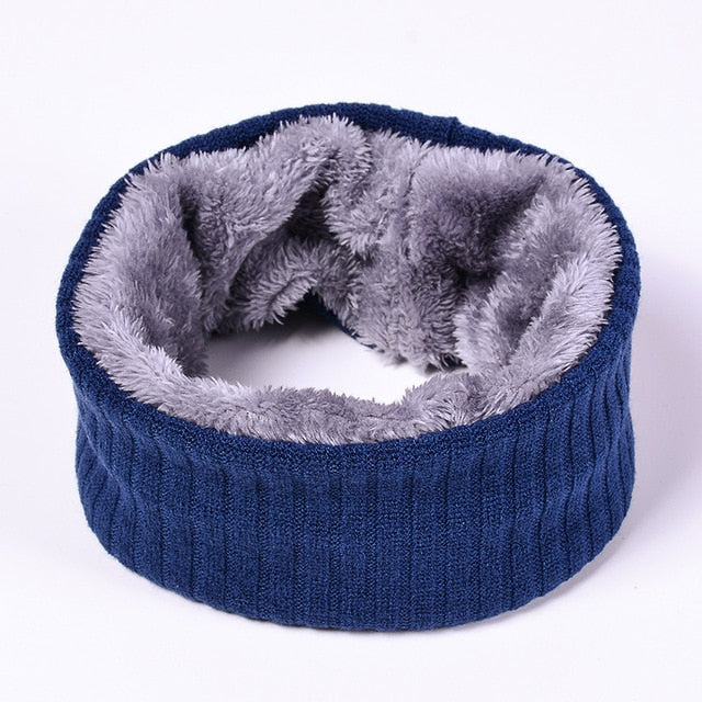 Unisex Winter Warm Knitted Ring Scarves Thick Fleece Inside Super Elastic Knit Mufflers Men Women Children Neck Warmers 2018-geekbuyig