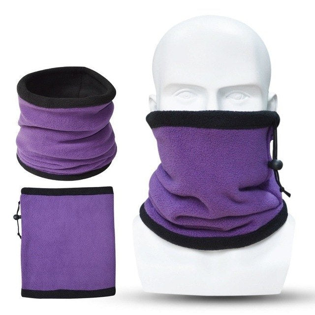 Unisex Polar Fleece Neck Warmer Winter Spring Warm Snood Scarf Men Women Outdoor Face Mask Ski Cycling Bicycle Ring Scarves-geekbuyig