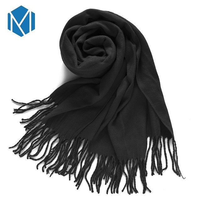 MISM Hot Fashion Plaid Female Shawls Foulard Warm Winter Scarf Women Blanket Girls Luxury Large Lady Basic Cashmere Wraps Tartan-geekbuyig