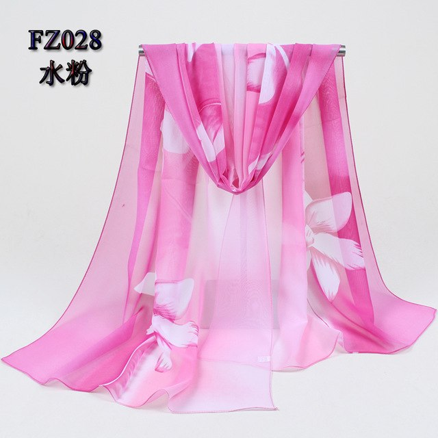 2019 new arrival Autumn and Winter fashion casual women scarf print polyester chiffon silk scarf women's apparel accesories 002-geekbuyig