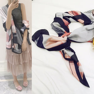 Size 180*90cm 2018 New Silk Scarves Beach Towel Scarf Female Four Seasons Shawls and Scarves Women Scarf Skyour Ksyoocur 9-17-geekbuyig