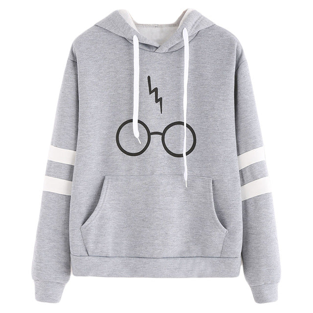 Harajuku Women Hoodies Fashion Glasses Print Hooded Sweatshirt Tops 2019 Casual Drawstring Long Sleeve Pullover Sudaderas Mujer-geekbuyig