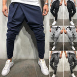 Men Long Casual Irregular Pants Gym Slim Trousers 2019 New Solid Running Joggers Gym Long Sweatpants M-2XL-geekbuyig