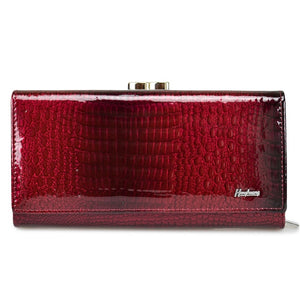 HH Genuine Leather Women Wallets Alligator Long Hasp Zipper Wallet Ladies Clutch Bag Purse 2019 New Female Luxury Purses-geekbuyig