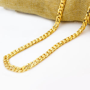 Unisex Jewelry Necklace Chain Cuban Long Necklace For Women Gold Color DIY Necklace Fine Jewelry Accessories-geekbuyig