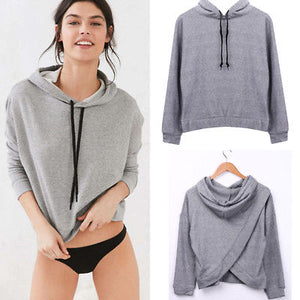 2017 Casual Women's Hoodie Long Sleeve Jumper Hooded Pullover Coat Tops Size S-XL-geekbuyig