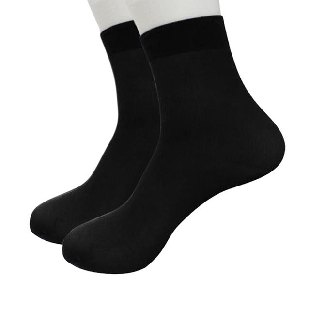 Men socks cotton fiber ultra-thin elastic silky short silk stockings socks   1035#1-geekbuyig