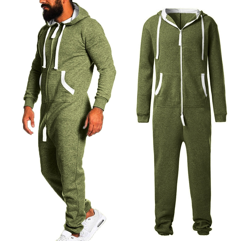 Sporting Jumpsuit men women long sexy Playsuit long sleeve One-piece garment Non Footed Pajama set Hoodie Warm Fur Sweatshirt