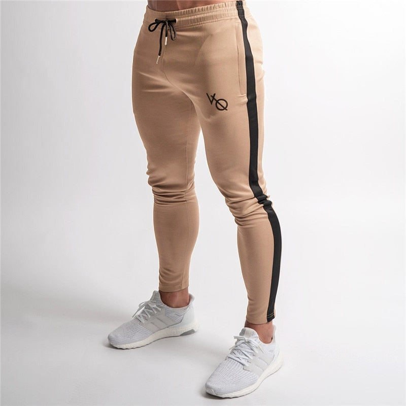 2018 Elasticity Mens Joggers Pants Casual Fashion Bodybuilding Joggers Sweatpants Bottom Patchwork Pants Men Casual Pants-geekbuyig