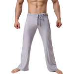 Mens Pants Mens Sleep Bottoms Viscose Home Pants Loose Sexy Mens Lounge Pants Milk Silk Fashion Strap Sexy Male Pajama Underwear-geekbuyig