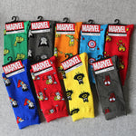 Marvel Comics Hero General Socks cartoon Iron Man Captain America Knee-High Warm Stitching pattern Antiskid Casual Sock-geekbuyig