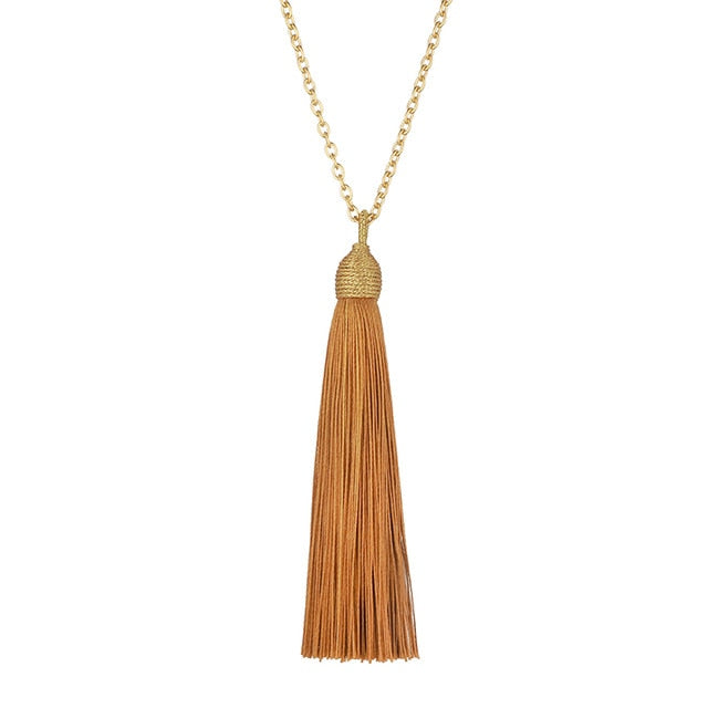 LOVBEAFAS Long Tassel Necklace Women Gold Chain 2019 Fashion Jewelry Boho Vintage Statement Fringe Bohemian Necklace Collier-geekbuyig