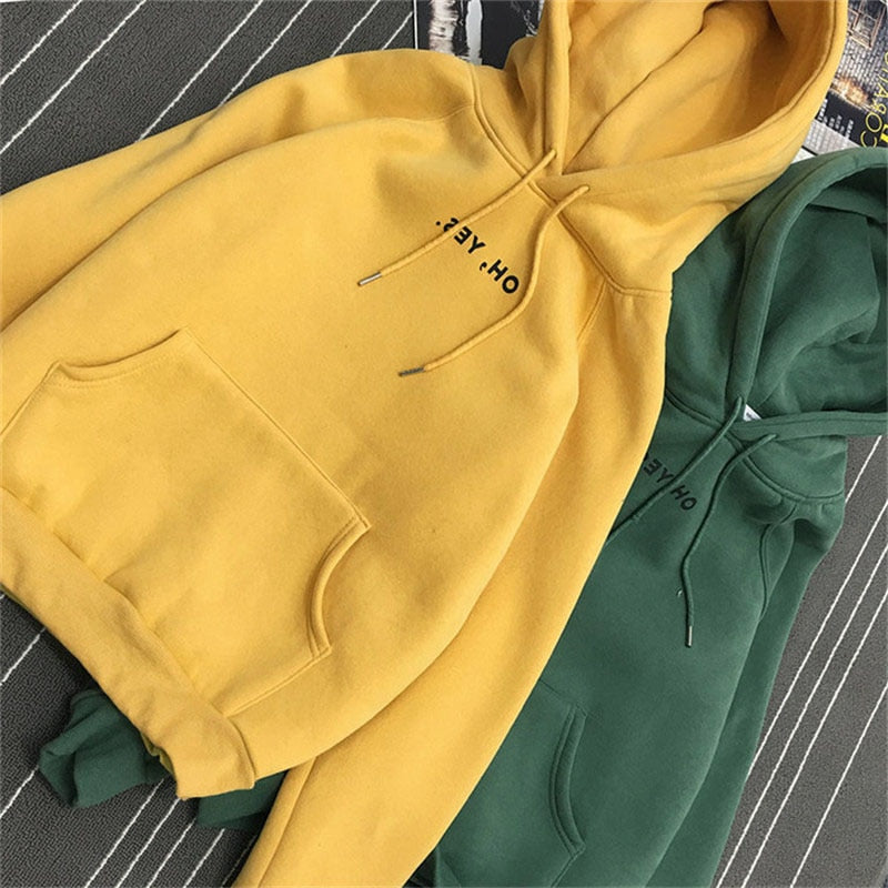 JAPPKBH Oversized Autumn Winter Hoodies Sweatshirt Women New Fashion Thick Loose Sweatshirts Casual Solid Streetwear Bts Hoodie-geekbuyig
