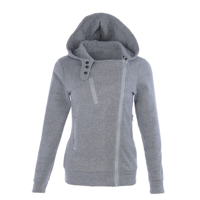 LITTHING Spring Women Hoodies Candy Color Sweatshirts Zipper V Neck Long Sleeve Warm Female Hoodies Sudaderas Mujer Z25-geekbuyig