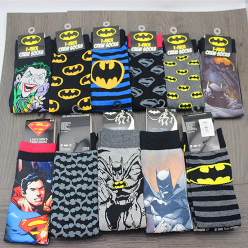 Avengers Marvel cartoon socks Batman superman Joker cosplay Fashion sock novelty Funny Casual men sock Spring Summer socks Hot-geekbuyig