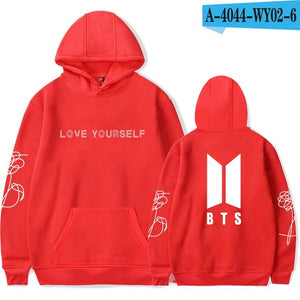 BTS Love Yourself Kpop Hoodies for women Sweatshirt Korean Harajuku Hoodie Ladies Clothing oversized Fashion Hip Hop Fans Clothe-geekbuyig