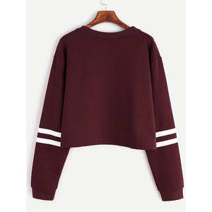LASPERAL 2018 Autumn Women Fashion Letter Print First I Need Coffee Hoodies Women Long Sleeve Casual Cropped Sweatshirt Pullover-geekbuyig
