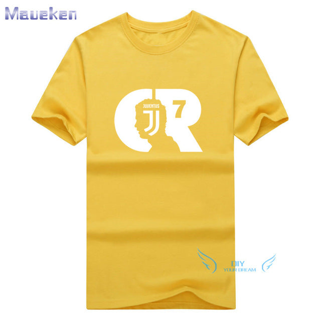 2018 Summer MAGLIA MAGLIETTA CRISTIANO RONALDO ALLA JUVENTUS T-Shirt Men Short Sleeve O-Neck fashion T shirts for fans gift-geekbuyig