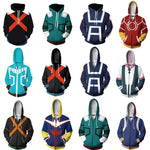 Fashion Anime 3D Men Women My Hero Academia All Might Hoodie Coat Todoroki Shoto Cosplay Costumes Sweatshirt Jacket Uniforms-geekbuyig