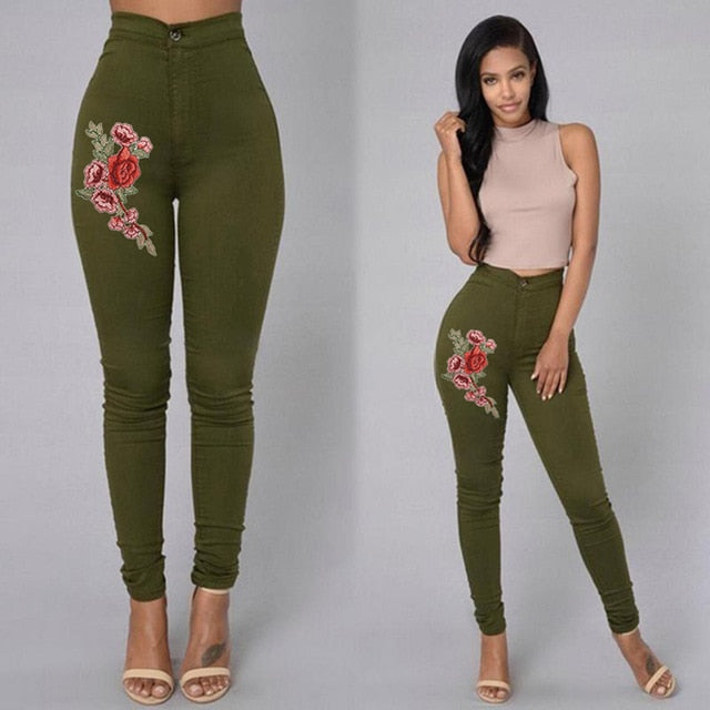 2018 Solid Wash Skinny Jeans Woman High Waist NEW Denim Pants Plus Size Push Up Trousers 2018 warm Pencil Pants Female **-geekbuyig