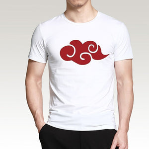 2019 Hot Sale Japanese Anime Naruto Akatsuki Red Cloud T Shirt Summer Men Short Sleeve Shirt 100% Cotton Loose Fit Male T-Shirts-geekbuyig