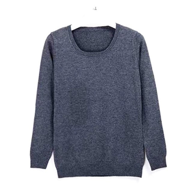 Hot selling New arrival women's Sweater Wool Sweater Female round neck pullover Knit Cashmere Sweater cultivating wild-geekbuyig