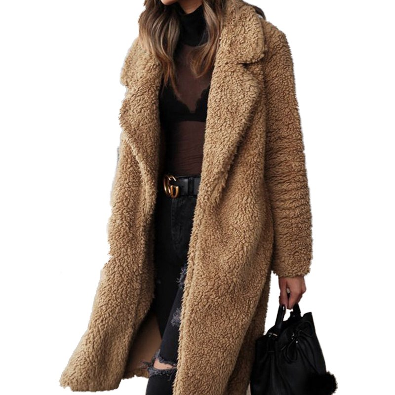 Plus Size 2019 Wool Blend Woman Casaco Feminino Winter Basic Coat Women Sobretudo Feminino Polyester Fashion Elegant Formal Sexy-geekbuyig