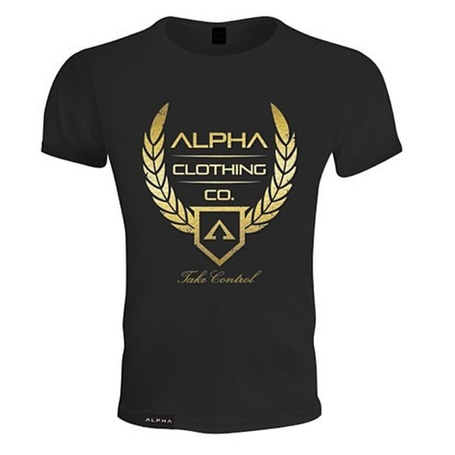 2019 Men Fashion Cotton T-shirt Summer Short Sleeve Shirts male Casual Gyms Fitness Slim Tees Tops Bodybuilding Workout Clothing-geekbuyig