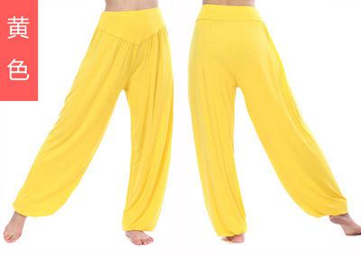 2019 Latin Dance Pants Modal Fitness Leggings Exercise Room Exercise loose pants Solid Pants Sharovary Harlan-geekbuyig