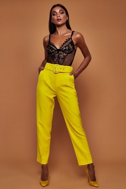 Summer Beach Casual Ruffle High Waist Trouser Women Lady OL Loose Pants-geekbuyig