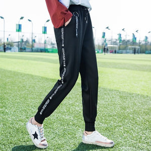 Summer Casual Pants Harajuku Side Striped Harem Pants Sweatpants High Waist Women Pants Jogger High Quality High Material Stripe-geekbuyig